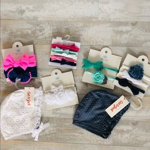 Girls bonnet and headband lot! NWT